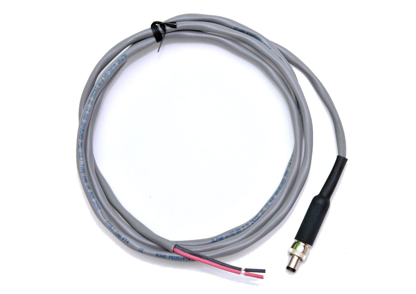 Cable, Input Power, DC Jack/Leads, 5 ft