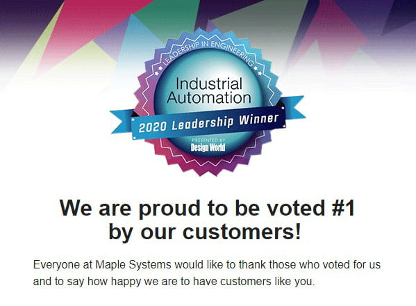 Thank you for voting us no 1 in Industrial Automation
